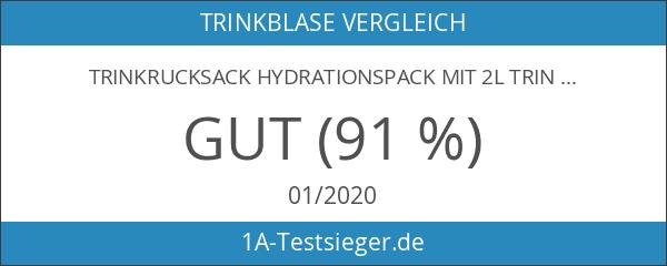 Trinkrucksack Hydrationspack mit 2L Trinkblase für Joggen