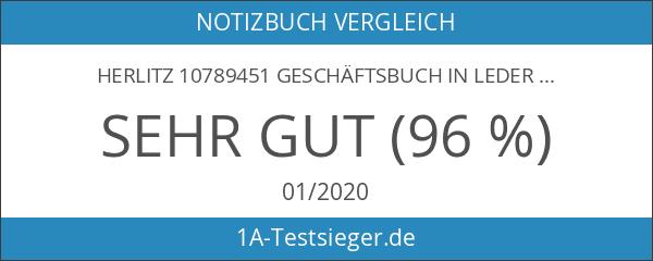 Herlitz 10789451 Geschäftsbuch in Lederoptik