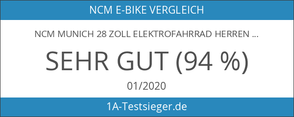 NCM Munich 28 Zoll Elektrofahrrad Herren