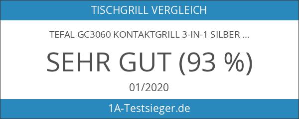 Tefal GC3060 Kontaktgrill 3-in-1 silber