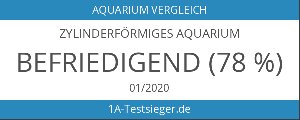 Zylinderförmiges Aquarium