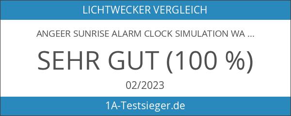 AnGeer Sunrise Alarm Clock Simulation Wake Up Lamp With Alarm
