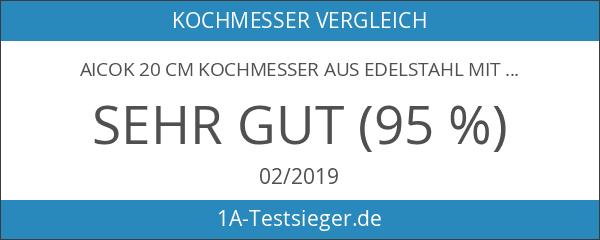 Aicok 20 cm Kochmesser Aus Edelstahl Mit Scharfer Klinge Und