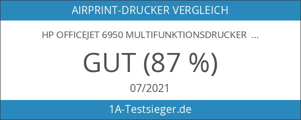HP Officejet 6950 Multifunktionsdrucker schwarz