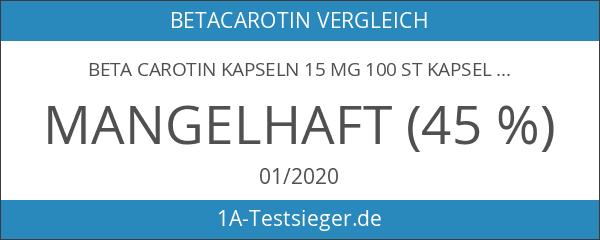 BETA CAROTIN KAPSELN 15 mg 100 St Kapseln