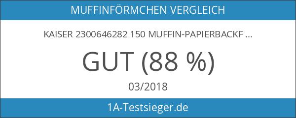 Kaiser 2300646282 150 Muffin-Papierbackförmchen
