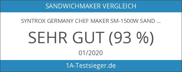 Syntrox Germany Chef Maker SM-1500W Sandwichmaker mit Keramik-Beschichtung