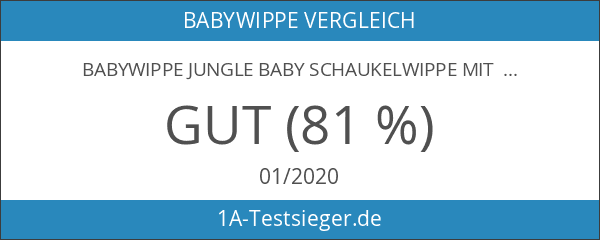 Babywippe JUNGLE Baby Schaukelwippe mit VIBRATION
