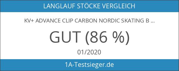 KV+ ADVANCE CLIP Carbon Nordic Skating Blading Skike Stöcke 2012