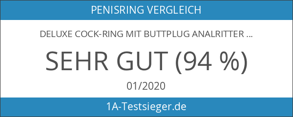 Deluxe Cockring Buttplug Analritter