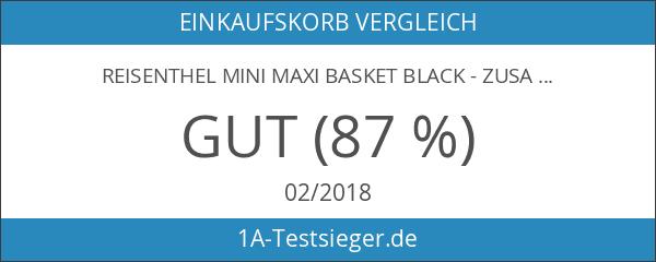 Reisenthel mini maxi basket black - zusammenfaltbarer Einkaufskorb schwarz -
