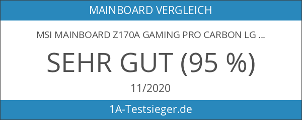 MSI Mainboard Z170A GAMING PRO CARBON LGA 1151 4x DDR4