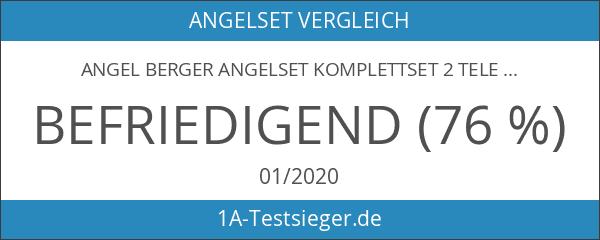 Angel Berger Angelset Komplettset 2 Teleskopruten Rollen Rutentasche