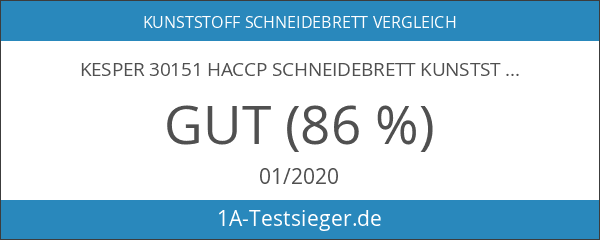 Kesper 30151 HACCP Schneidebrett Kunststoff 53 x 32