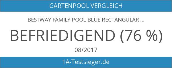Bestway Family Pool Blue Rectangular