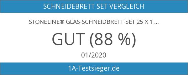 STONELINE® Glas-Schneidbrett-Set 25 x 15 cm