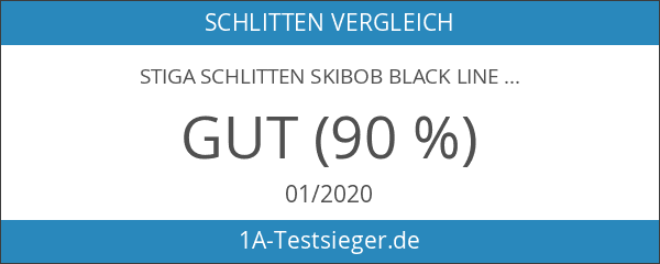 STIGA Schlitten Skibob Black Line