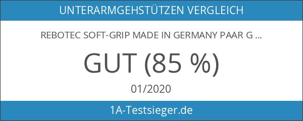 REBOTEC SOFT-GRIP made in Germany Paar Gehhilfen Unterarm-Gehstützen Krücken