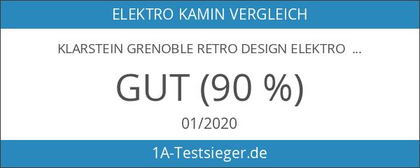 Klarstein Grenoble Retro Design Elektro Kamin-Ofen Kamin elektrisch für Wohnzimmer