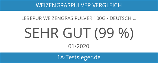 Lebepur Weizengras Pulver 100g - deutscher Vertragsanbau