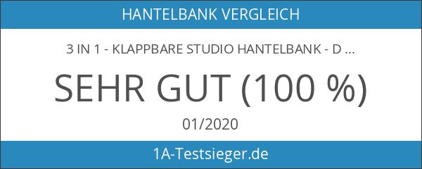 3 in 1 - Klappbare Studio Hantelbank - Das Original
