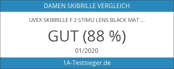 Uvex Skibrille f 2 STIMU LENS black mat