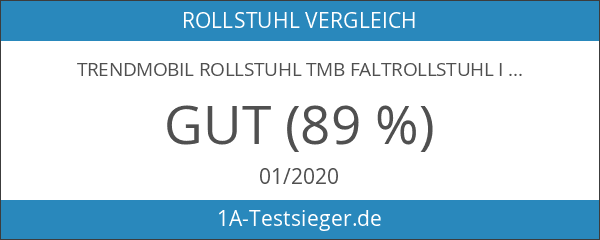 Trendmobil Rollstuhl TMB Faltrollstuhl inkl. Trommelbremse Reiserollstuhl mit Steckachsensystem Sitzbreite