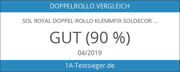 Duo-Rollo Klemmfix ohne Bohren Doppelrollo mit Klemmträger 90 x 150