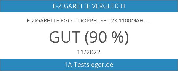 E-Zigarette eGo-T Doppel Set 2x 1100mAh Akku 2x Atomizer in