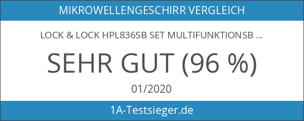 Lock & Lock HPL836SB Set Multifunktionsboxen 6 tlg.