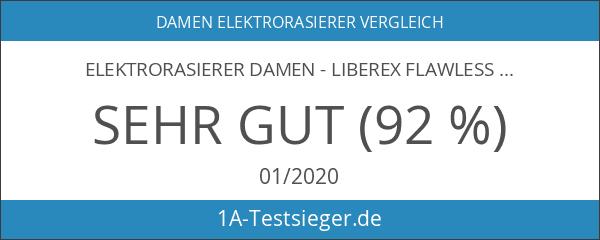 Elektrorasierer Damen - Liberex Flawless Gesichtshaarentferner Wet and Dry Ladyshaver
