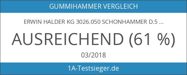 ERWIN HALDER KG 3026.050 Schonhammer D.50mm 1150g Simplex Gummi