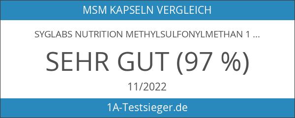 Syglabs Nutrition Methylsulfonylmethan 1000 mg - 500 Tabletten MSM Schwefel
