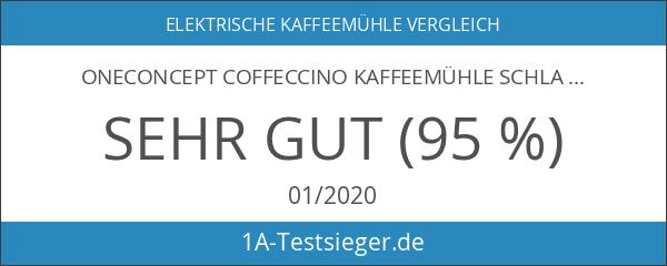 oneConcept Coffeccino Kaffeemühle Schlagmahlwerk elektrischer Kaffebohnen Zerkleinerer rot