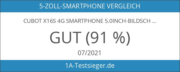 Cubot X16S 4G Smartphone 5.0inch-Bildschirm 1280 * 720px 1