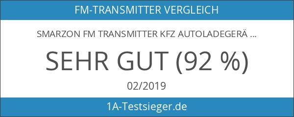 Smarzon FM Transmitter KFZ Autoladegerät Wireless Radio Transmitter mit 3