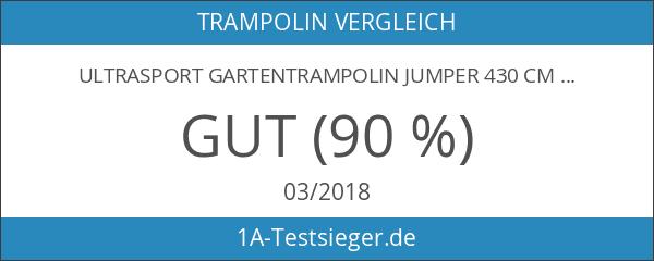Ultrasport Gartentrampolin Jumper 430 cm inkl. Sicherheitsnetz