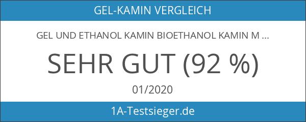 Ethanol und Gelkamin Modell Berlin Deluxe Weiss incl. regulierbaren Brenner