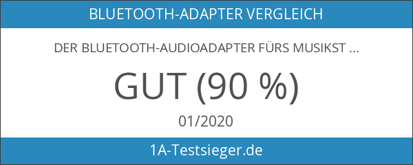 Der Bluetooth-Audioadapter fürs Musikstreaming-Soundsystem