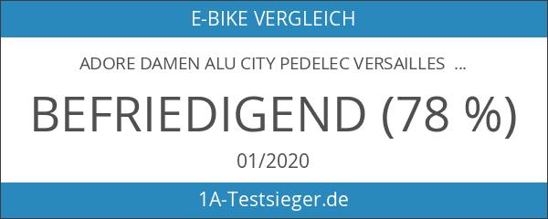 Adore Damen Alu City Pedelec Versailles E-Bike Weiß-Grün 250 Watt
