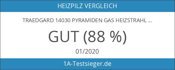 Traedgard 14030 Pyramiden Gas Heizstrahler Gomera aus Edelstahl inklusive Starterset