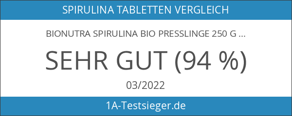 BioNutra Spirulina Bio Presslinge 250 g