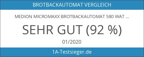 MEDION Micromaxx Brotbackautomat 580 Watt