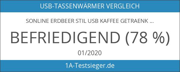 Sonline Erdbeer Stil USB Kaffee Getraenkewaermer Waermer Heizungs Pad