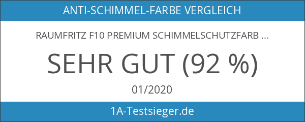 Raumfritz F10 PREMIUM Schimmelschutzfarbe 5 Ltr lösemittelfreier Profi Schutzanstrich gegen