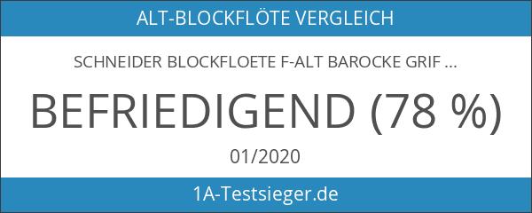 Schneider Blockfloete F-Alt Barocke Griffweise