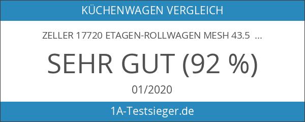 Zeller 17720 Etagen-Rollwagen Mesh 43.5 x 26 x 62.5 cm