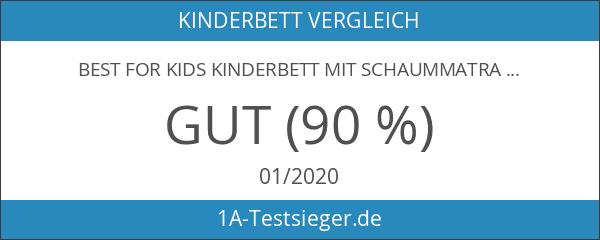 BEST FOR KIDS KINDERBETT mit Schaummatratze mit TÜV ZERTIFIZIERT 80x160