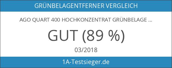 AGO Quart 400 Hochkonzentrat Grünbelagentferner 2 Liter Konzentrat. Gegen Algen