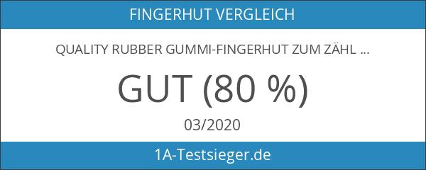 Quality Rubber Gummi-Fingerhut zum Zählen von Geldscheinen und Umblättern Größe